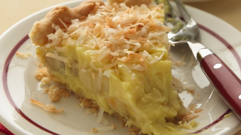 Banana-Coconut Cream Pie with Buttermilk Crust Recipe ...