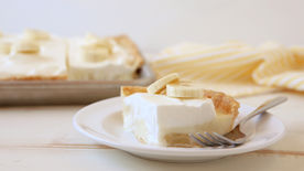Banana Cream Slab Pie