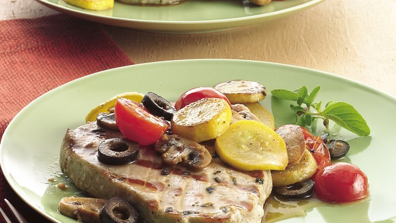 Tuna with Mediterranean Vegetables