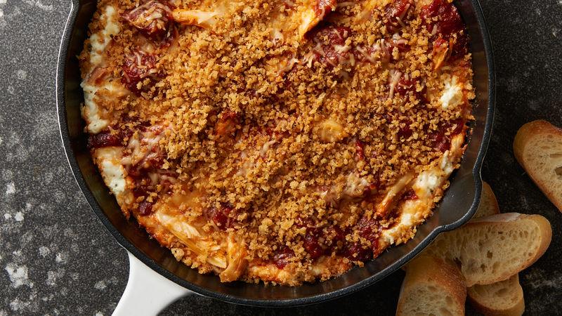 Chicken Parmesan Skillet Dip