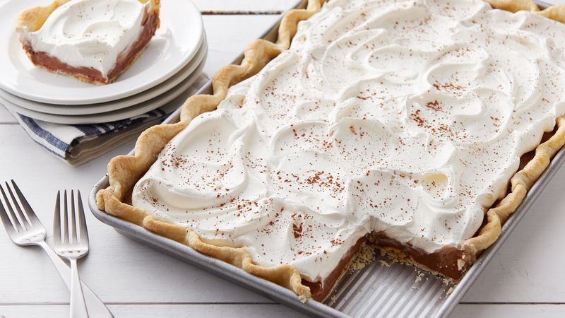 French Silk Slab Pie