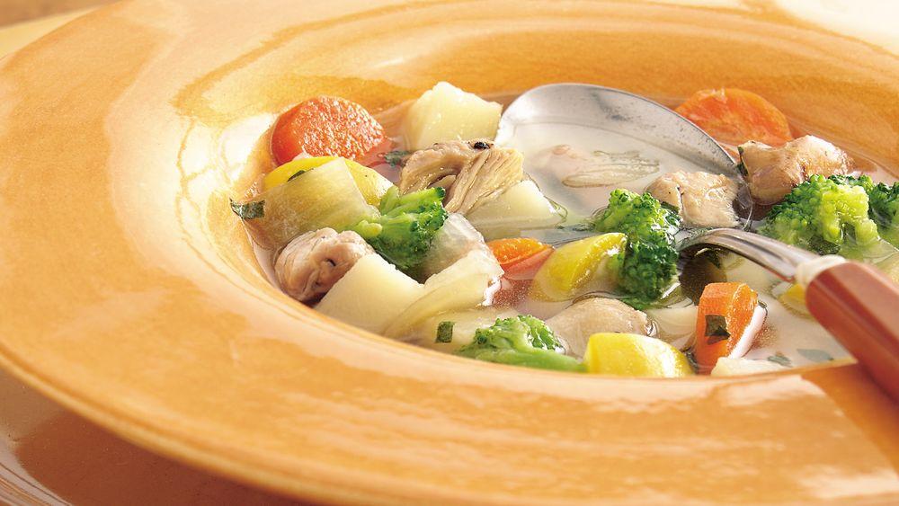 Slow-Cooker Garden Harvest Chicken Soup