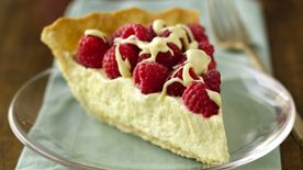 White Chocolate-Raspberry Pie