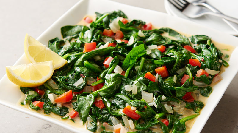 Vegan Creamy Garlic Spinach