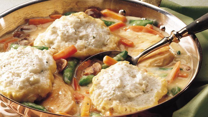 Skillet Chicken and Dumplings