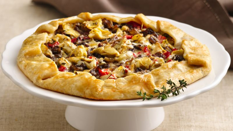 Bistro-Style Onion and Artichoke Galette