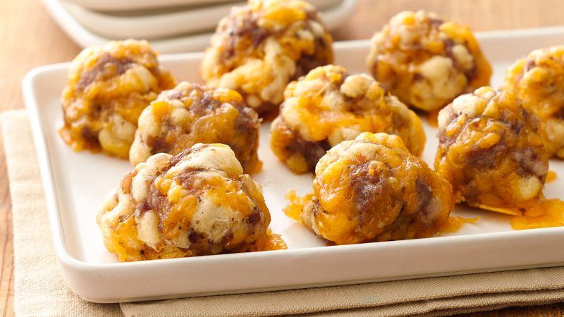 Boules de croissant au fromage et à la saucisse