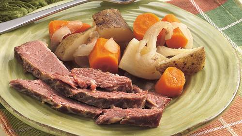 Slow-Cooked Corned Beef Dinner image
