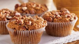 Candied Pecan Sweet Potato Muffins