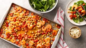 Spicy Shrimp Sheet-Pan Dinner