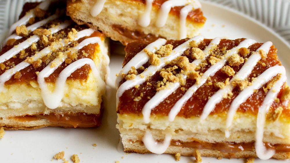 Toaster Strudel Pumpkin Cheesecake Bars