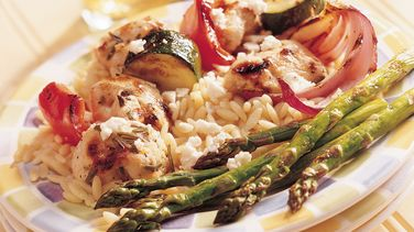 Mediterranean Chicken-Vegetable Kabobs