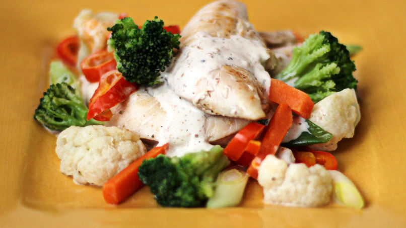 Sautéed Chicken Breast with Vegetables