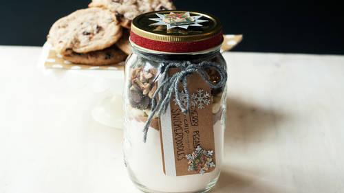 Cherry-Pecan-Chip Snickerdoodle Cookies image