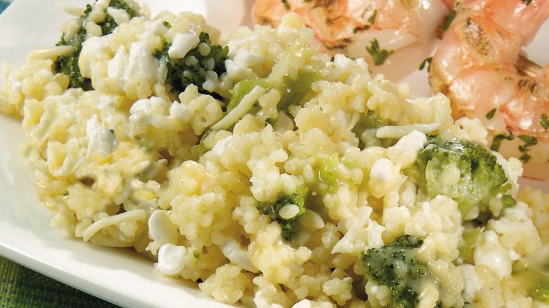 Easy Three-Cheese Broccoli Couscous