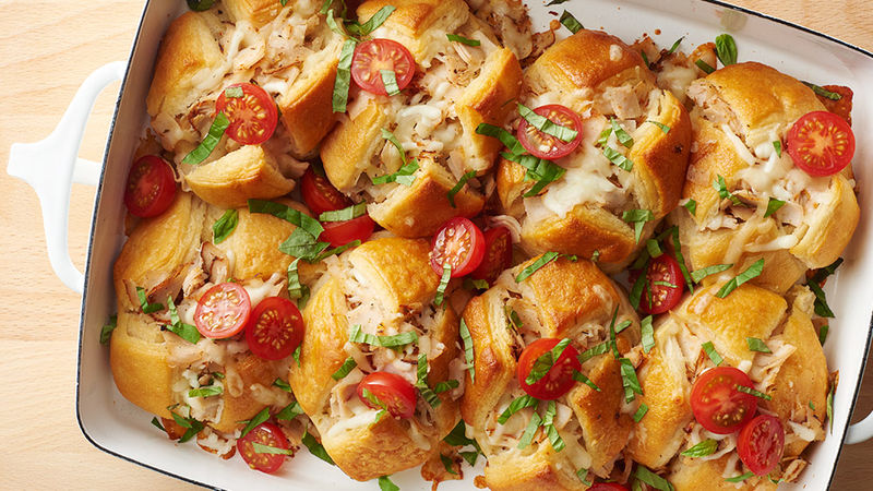 Turkey Caprese Biscuit Bake