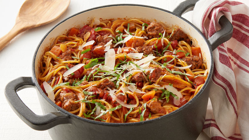 One Pot Pasta Bolognese