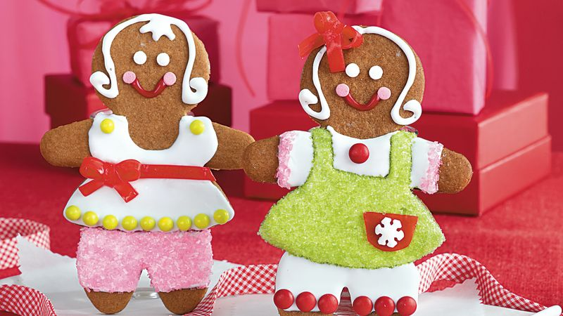 Paper Doll Gingerbread Girls