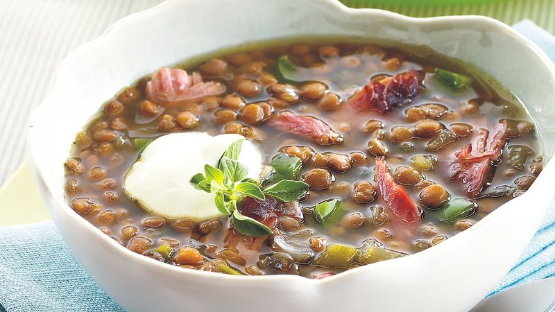 Slow-Cooker Smoked Turkey Lentil Soup