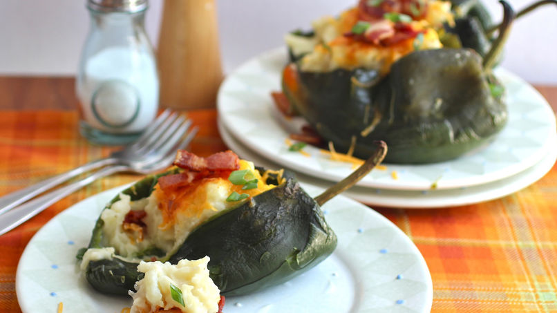 Poblano Peppers Stuffed with Potatoes and Bacon