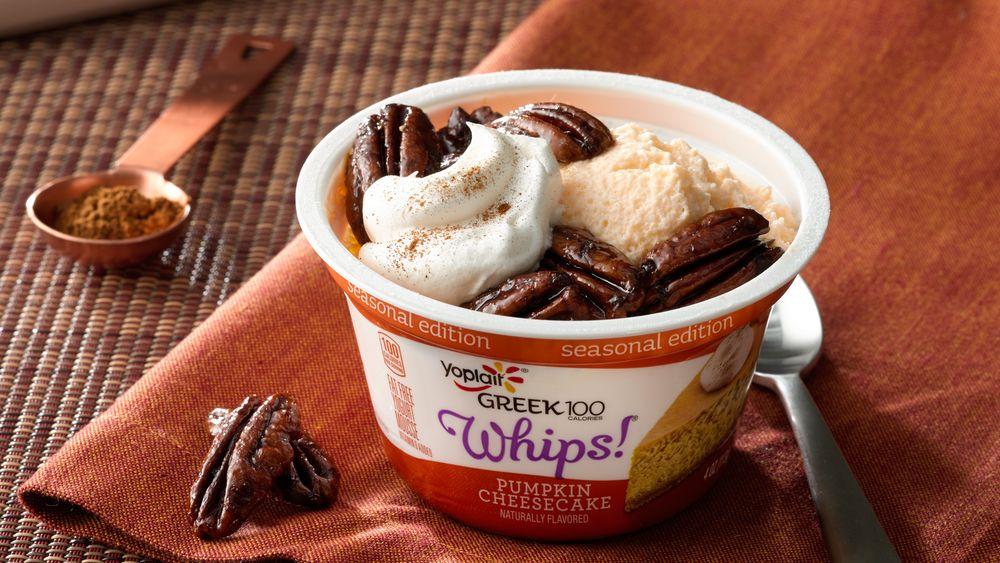 Glazed Pecan Pumpkin Cheesecake Yogurt Mousse Cup