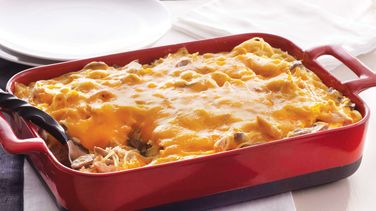 Chicken Tetrazzini Bake