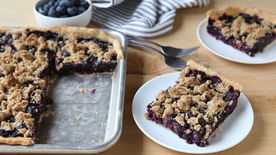 Blueberry Crumble Slab Pie