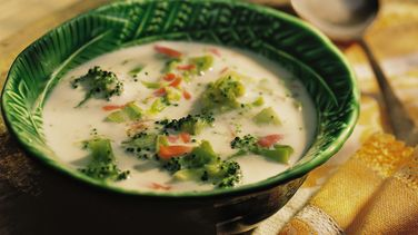 Cheesy Broccoli-Potato Soup