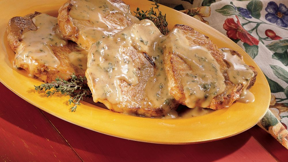 Braised Pork Chops With Cream Gravy