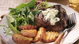 Steaks with Blue Cheese Butter