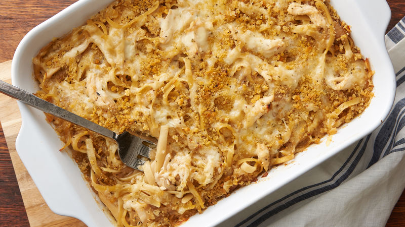 French Onion Chicken Pasta Casserole