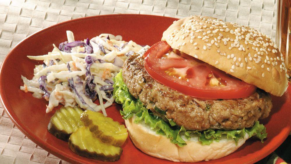 Garlicky Turkey Burgers