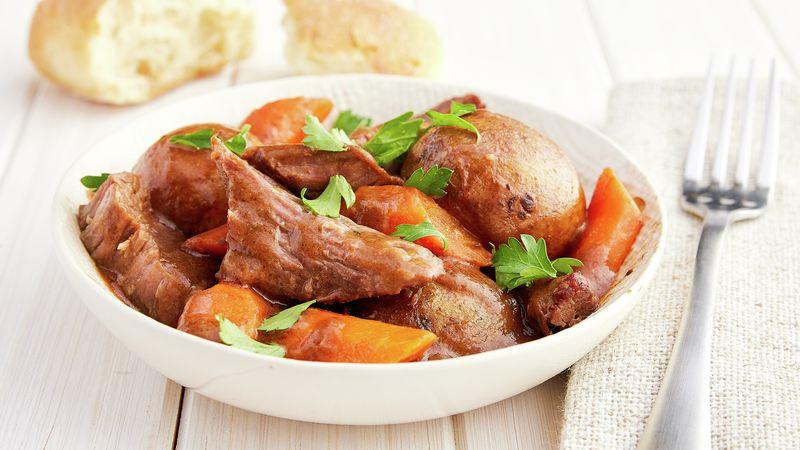 Slow Cooker Easy Pot Roast Recipe Bettycrocker Com