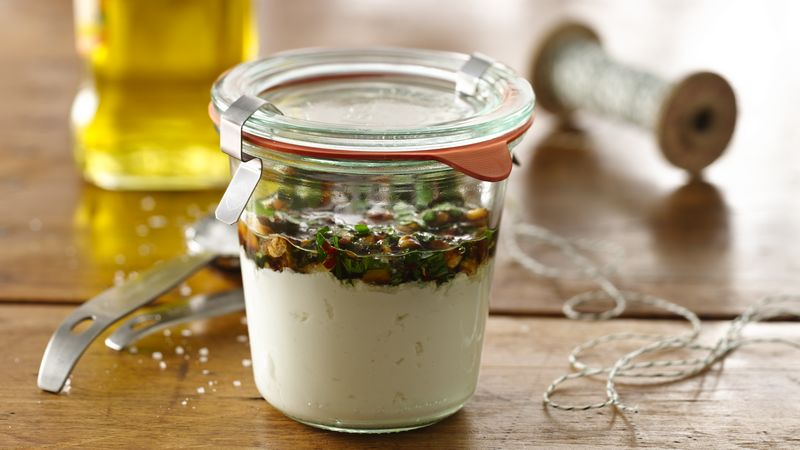 Herbed Yogurt Cheese in a Jar