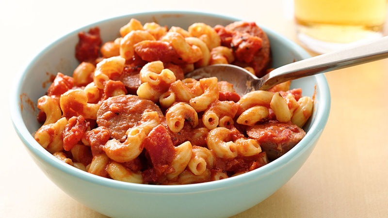 Creamy Marinara Pasta with Chicken Sausage