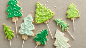 Christmas Tree Cookie Pops