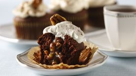 Pecan Pie-Filled Chocolate Cupcakes