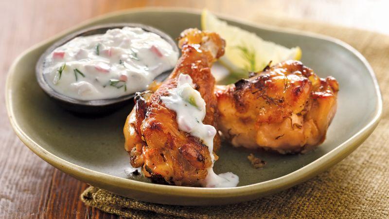 Greek Chicken Wings with Tzatziki Sauce