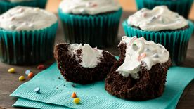 Chocolate-Marshmallow Cream-Filled Cupcakes