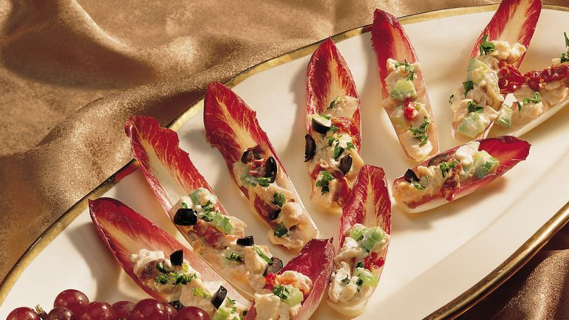 Endive with Sun-Dried Tomato Chicken Salad