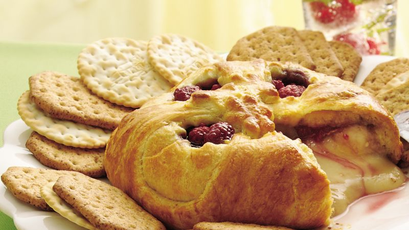 raspberry baked brie recipe pillsbury com