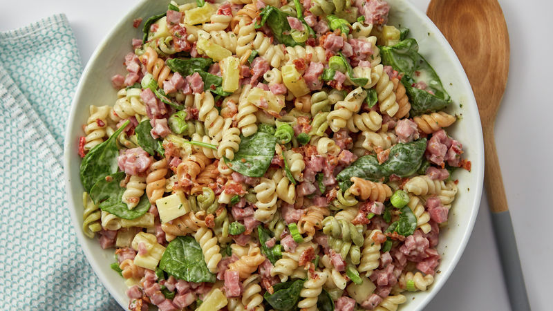 hawaiian ham and bacon pasta salad