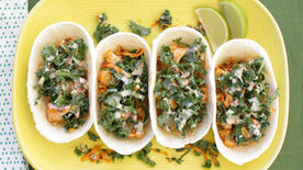 Tilapia and Kale Ten Minute Taco Boats
