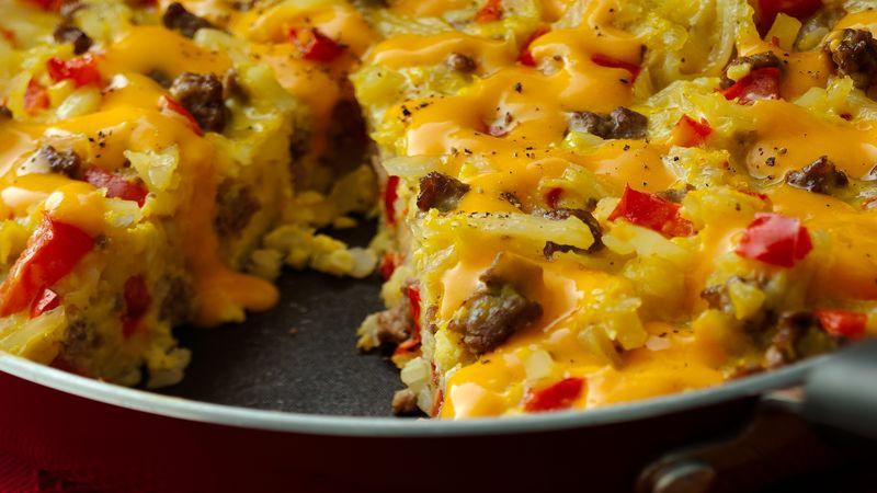 Cheesy Hashbrowns Frittata
