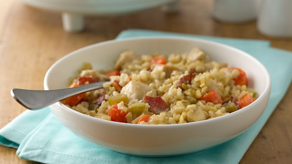 Slow-Cooker Chicken and Grains Casserole