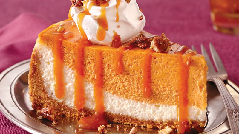 Caramel Pumpkin Cheesecake Recipe Bettycrocker Com