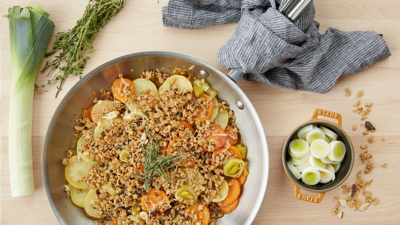 Savory Sweet Potato Crumble