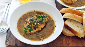 Beer-Braised Chicken with Crusty Bread
