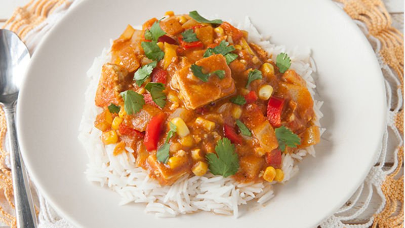 Slow cooker tofu curry recipe tablespoon slow cooker tofu curry forumfinder Choice Image