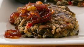 Wild Rice-Pecan Patties with Red Onion Chutney